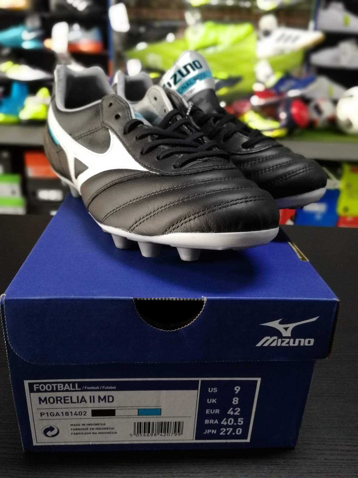 Football-shoes-Mizuno-Scarpe-Calcio-Morelia-II-MD-FG-Nero-2018-Pelle-di-cangur miniatura 4