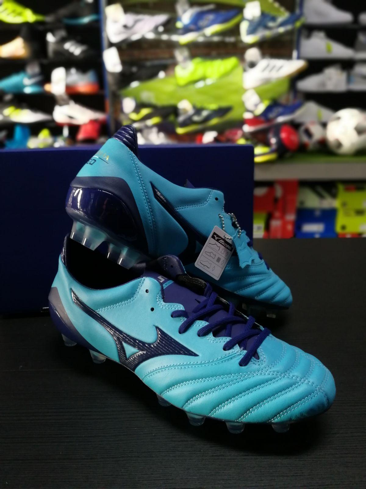 Football scarpe Mizuno Mizuno Mizuno Scarpe Calcio Morelia Neov KL MD FG Azzurro d84a48