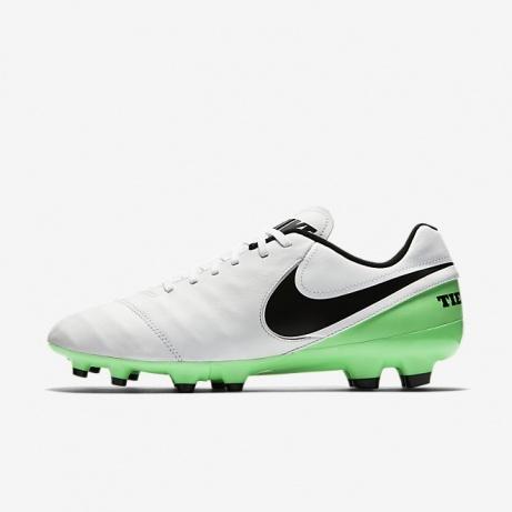 size 40 f7a67 02b20 ... Scarpe Calcio Originale Nike Tiempo Genio II Leather FG Uomo 2017  Bianco Verde - Football Boots ...