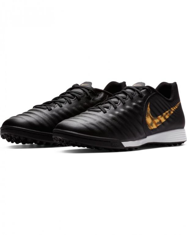 buy online fb712 9981d Scarpe calcetto Nike Tiempo LegendX 7 Academy Turf Nero Oro vera pelle uomo  - Football boots ...