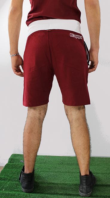 6 sur 7 Torino Turin Kappa Pantaloncini Shorts Amaranto Cotone con tasche a  zip Uomo 784117c74120