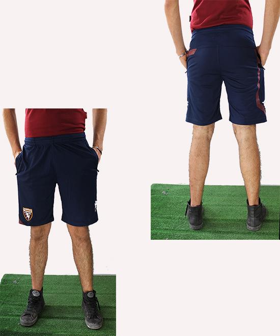 Torino-Turin-Kappa-Pantaloncini-Shorts-Hose-Blue-poches-zippees-Homme-2016-17
