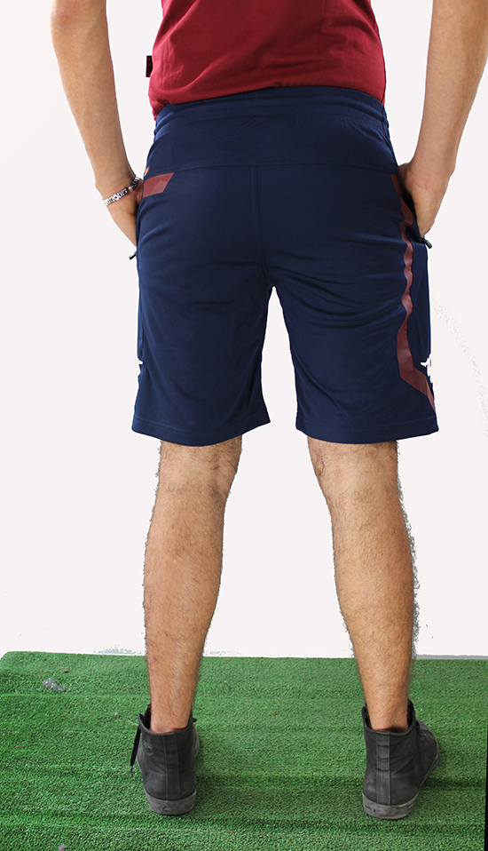 Torino Turin Shorts Kappa Pantaloncini Shorts Turin Hose Blue poches zippées Training Homme 02c655