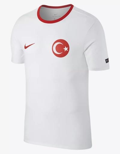 5d86c15bb6 ... T-shirt tempo libero Turchia Nike Crest tee Mondiali Russia 2018 Uomo  Bianco Originale ...