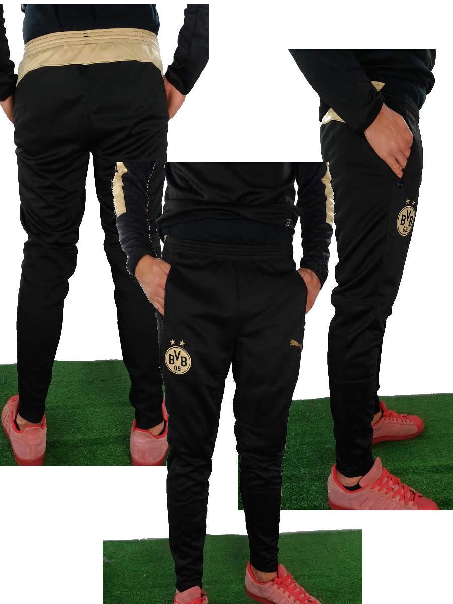 Borussia Dortmund BVB 09 Puma Pantaloni tuta Pants 2015 16 Nero training pant