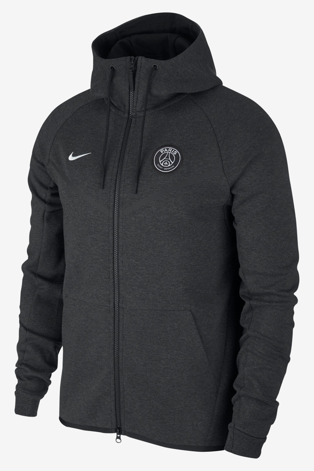 psg nike training jacke jacket schwarz tech fleece