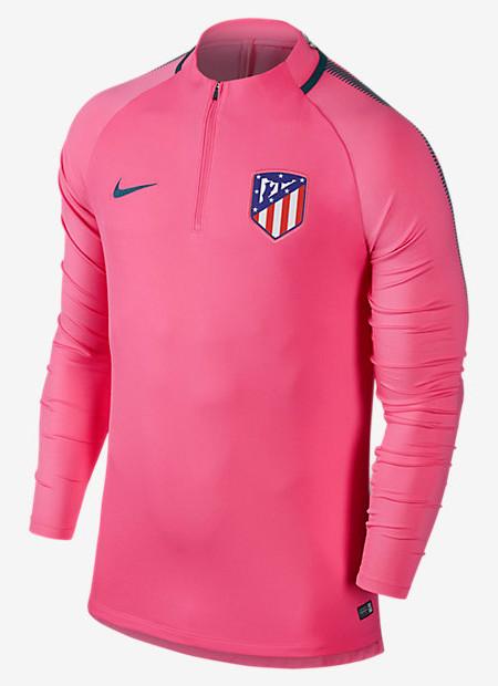 Squad-Drill-Top-Atletico-Madrid-Nike-Felpa-Allenamento-Rosa-2017-18