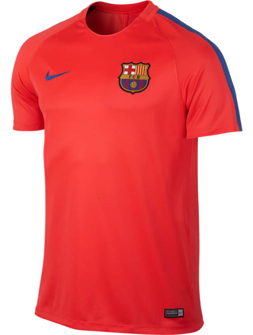 Barcelona Nike Training Shirt Dry Squad Red 2016 17 Ebay
