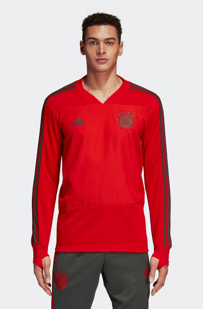 Bayern Munchen Adidas Training Felpa Rosso 2018 19
