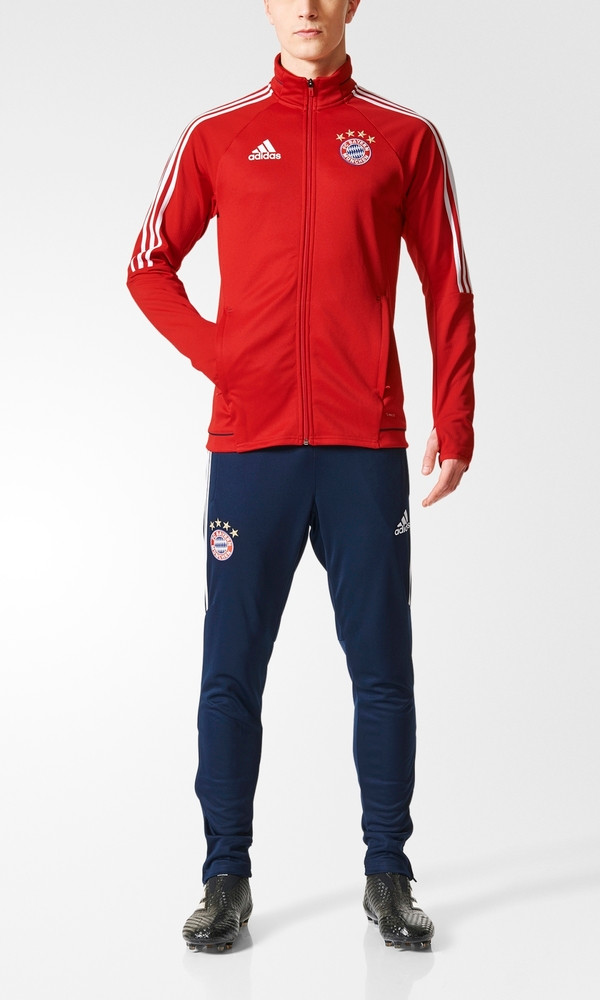 Bayern Monaco Adidas Tuta Allenamento Training Tracksuit rojo 2017 18