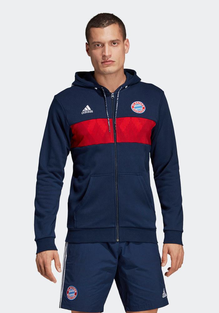 Bayern Monaco Adidas Giacca Felpa Sportiva sport Jacket Blu Hoodie 3S FZ 2019 | eBay