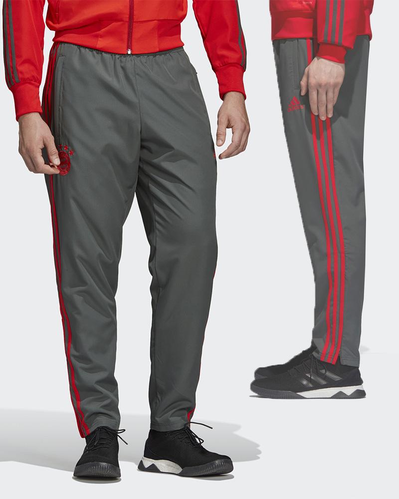 Bayern Munchen Adidas Track Pantalon Pants Hose 2018 19 Gris Woven Presentatio Qh7Sovdy-07134949-933754924