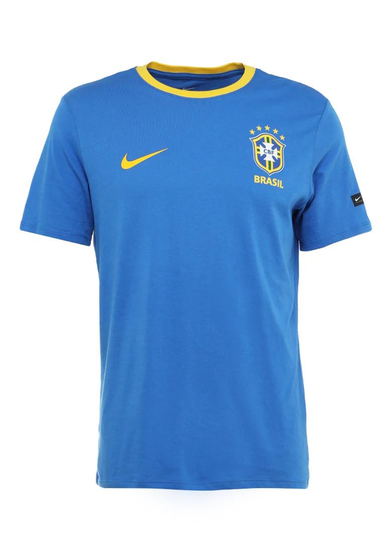 bresil brazil cbf loisirs t shirt coupe du monde 2018 bleu. Black Bedroom Furniture Sets. Home Design Ideas