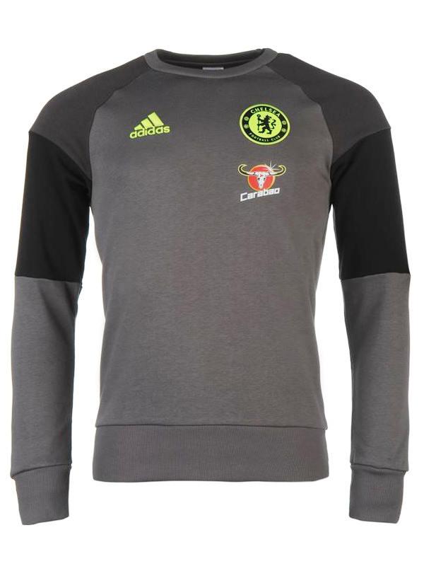 Sweat-Chelsea-Fc-Adidas-Felpa-Allenamento-Training-Sweatshirt-Grigio-2016-17