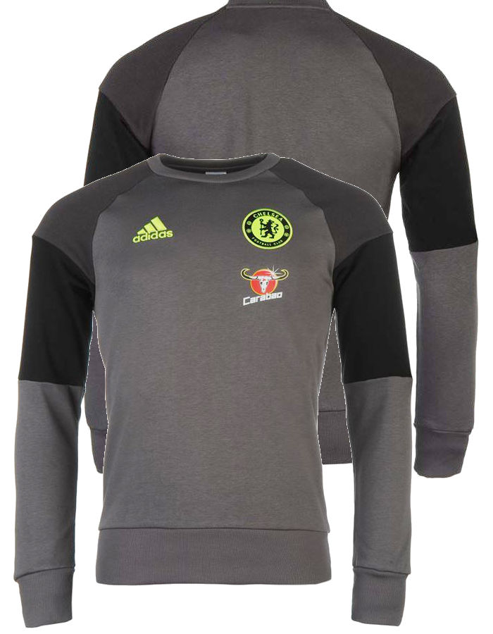 Sweat Chelsea Fc Adidas Felpa Allenamento Training Sweatshirt Grigio 2016 17