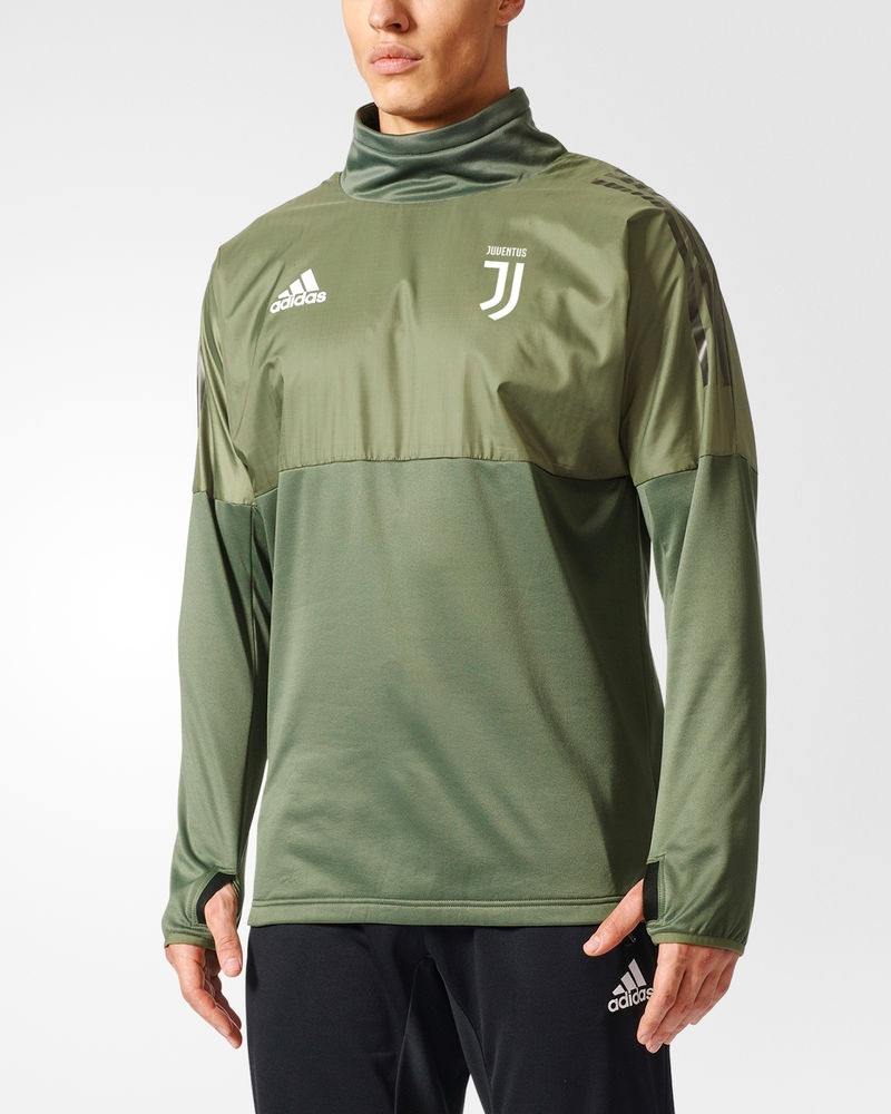 Agressif Juventus Turin Adidas Hybrid Top Uefa Training Sweatshirt Felpa Vert 2017 18 Nombreux Dans La VariéTé