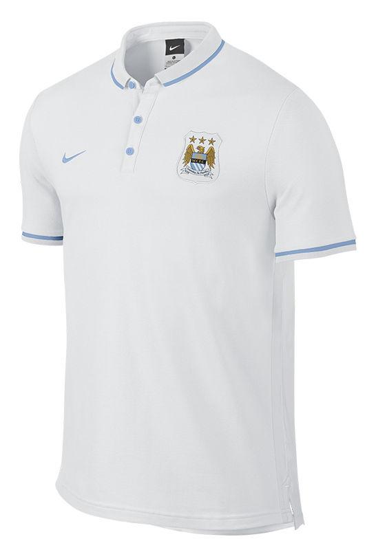 Authentic-League-Manchester-City-Nike-Polo-Maglia-Bianco-maniche-corte-2016-Uom