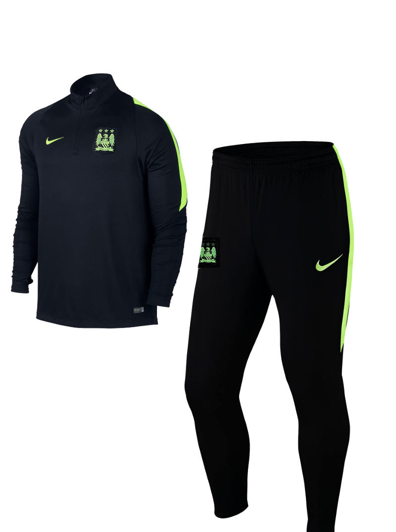 manchester city nike training trainingsanzug schwarz half. Black Bedroom Furniture Sets. Home Design Ideas