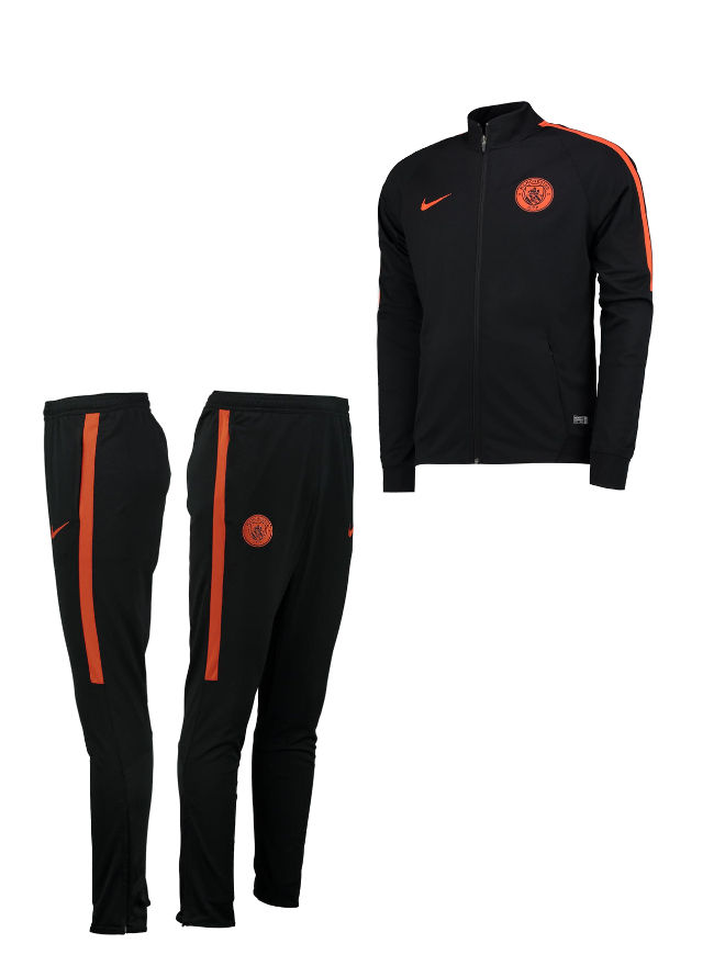 manchester city nike training trainingsanzug schwarz dry. Black Bedroom Furniture Sets. Home Design Ideas