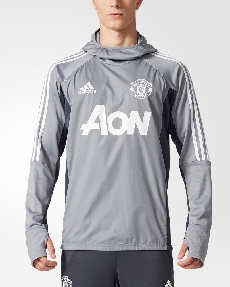 Manchester United Adidas WARM TOP Training Sweatshirt  gris 2017 18  compras en linea