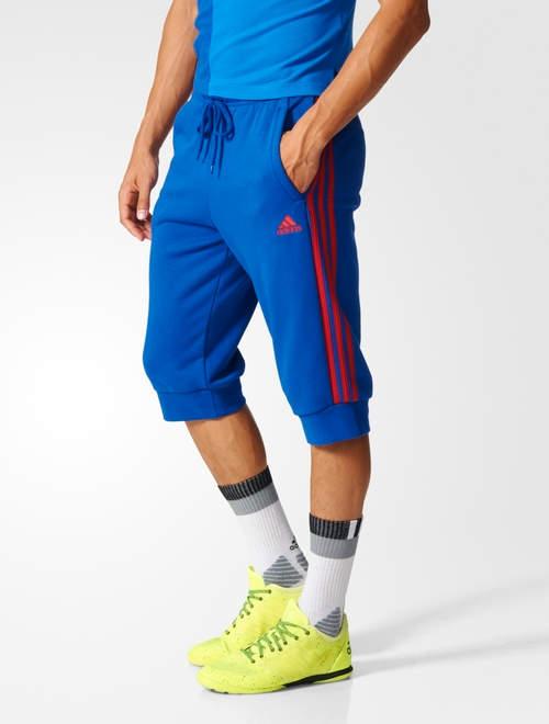manchester united adidas pantaloncini shorts hose 3 4 pants blau 2017 herren ebay. Black Bedroom Furniture Sets. Home Design Ideas