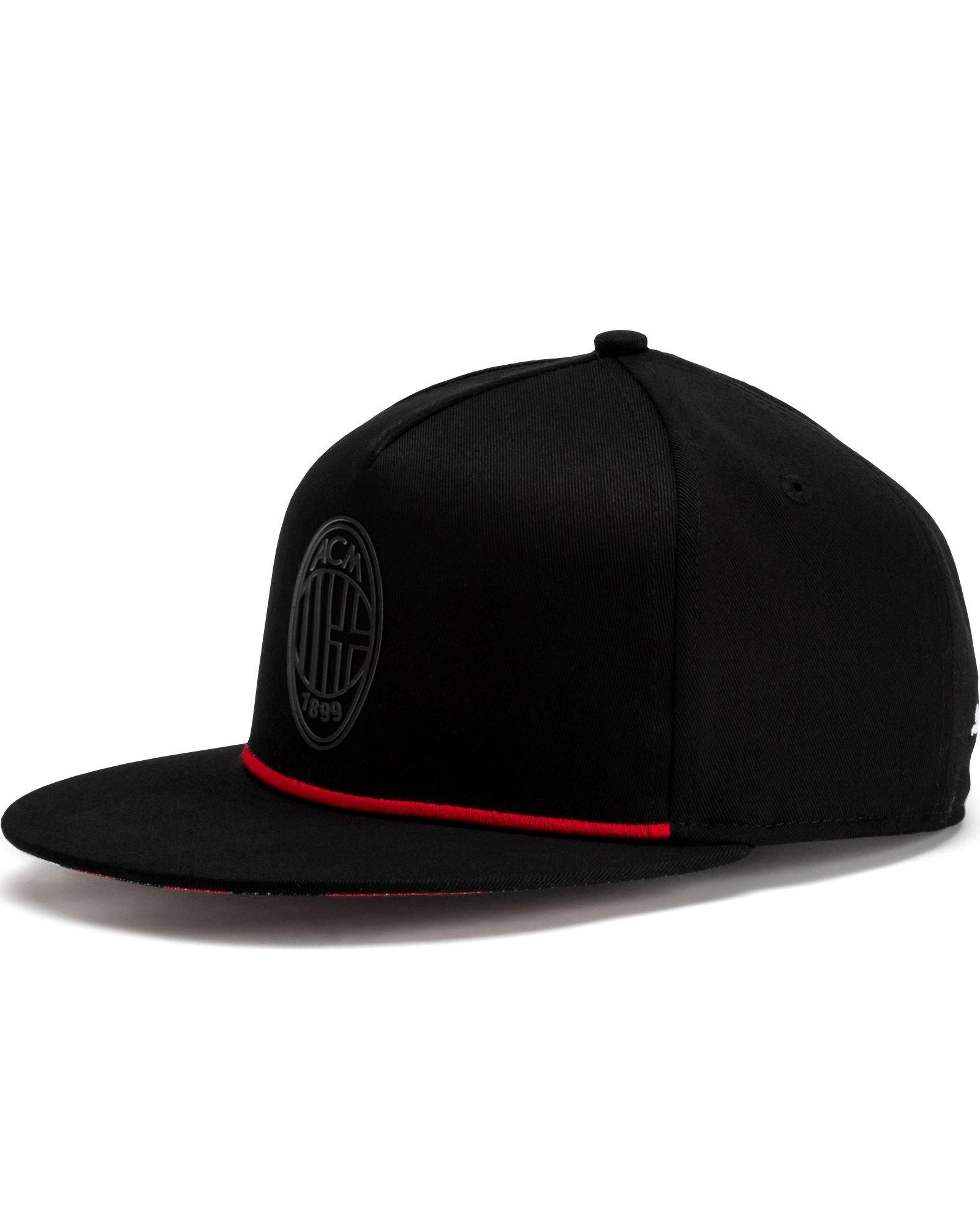 Ac Milan Puma Cappello Berretto Hat tg Unisex Nero Cotone