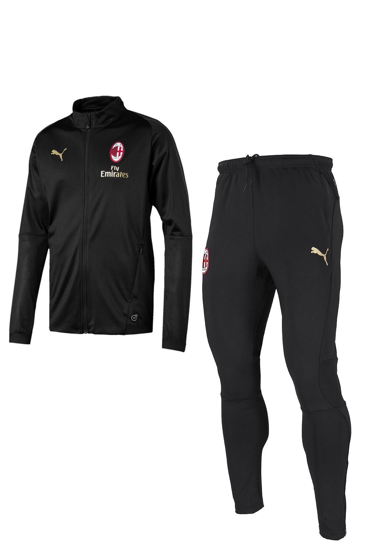 AC Milan Tuta Puma Training 2018 19 NERO VERSIONE Bench