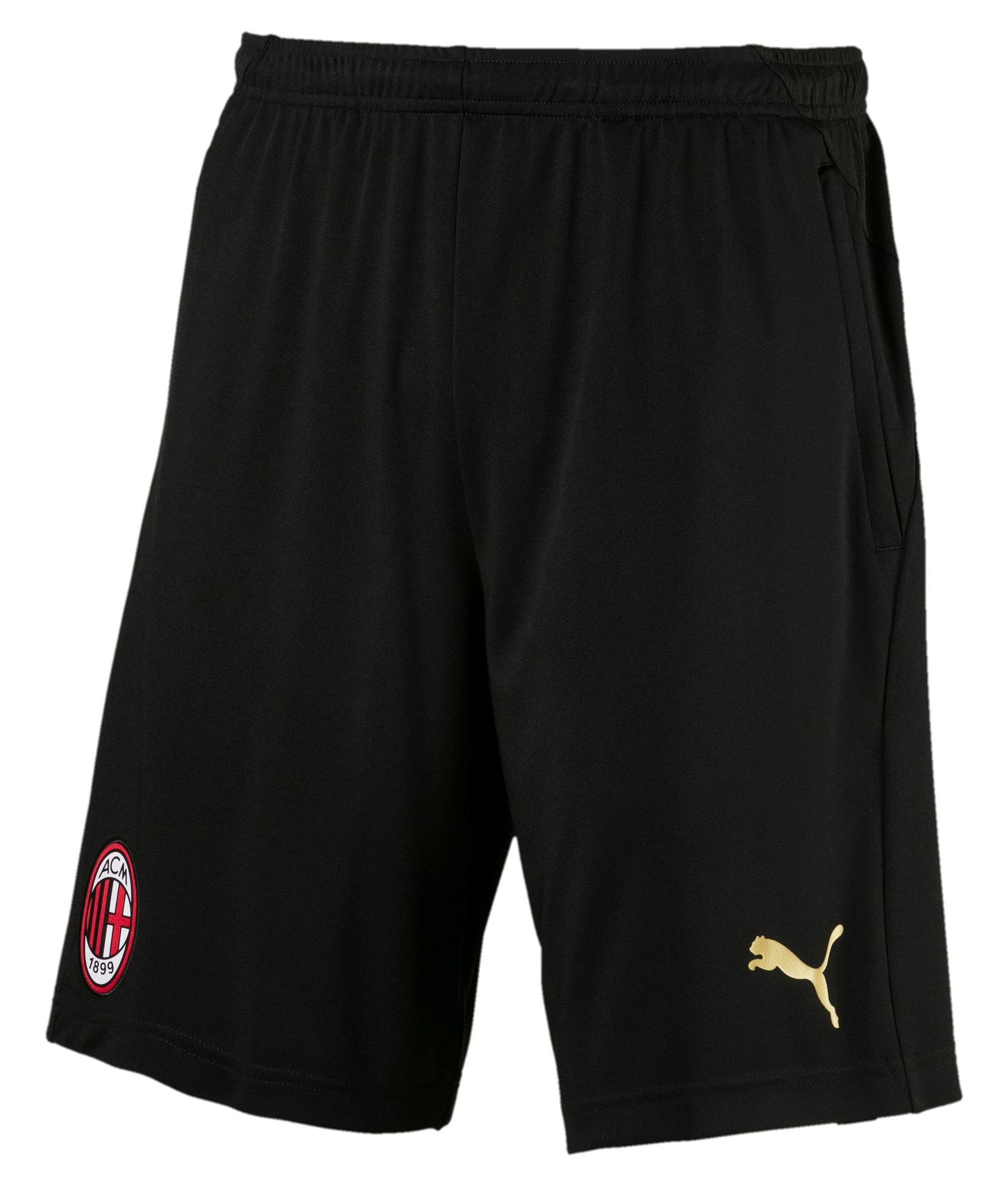 Ac Milan Puma Pantaloncini Shorts Hose Training black 2018 19