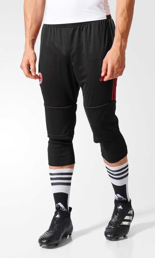 ac mailand milan adidas pantaloncini shorts hose 3 4 pants herren schwarz ebay. Black Bedroom Furniture Sets. Home Design Ideas