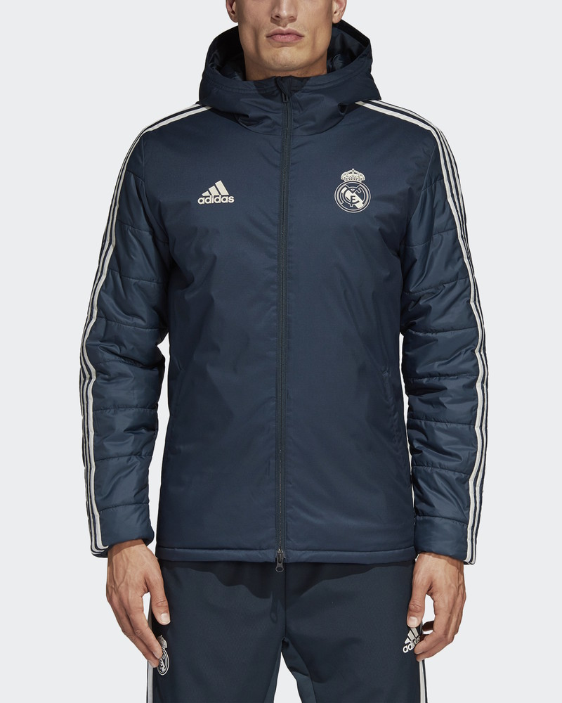 Real Madrid Adidas Bomber Piumino Giubbino Giubbotto azul Winter 2018 19