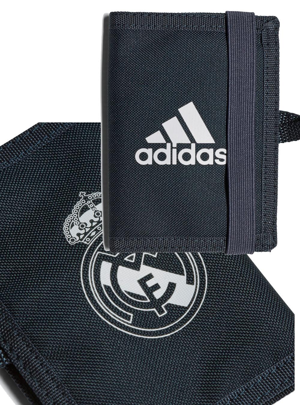 2019 Moda Real Madrid Adidas Portafoglio Porta Documenti Porta Monete Tg Wallet Blu Prestazioni Affidabili