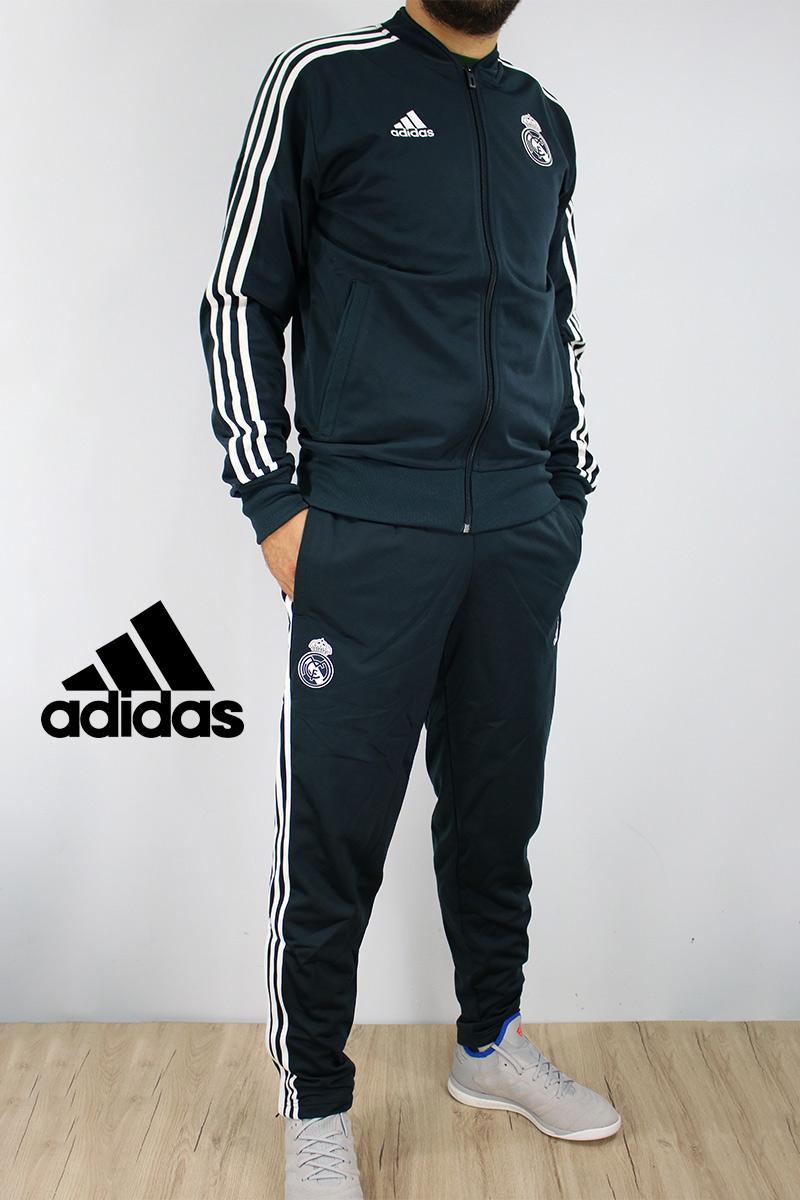 Real Madrid Adidas Traje Entrenamiento Training Tracksuit 2018 19 azul