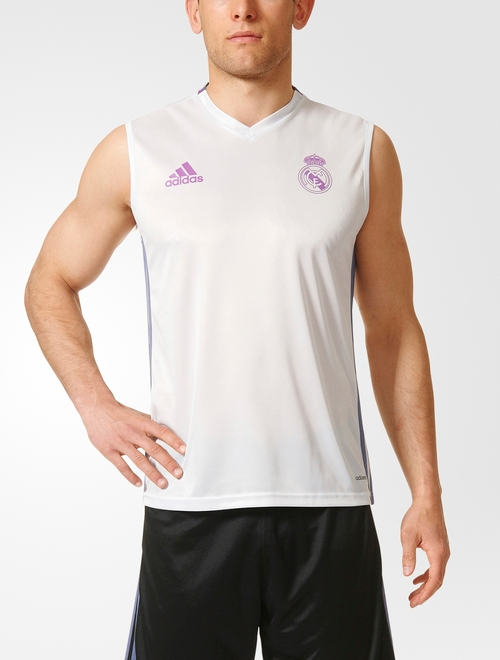 real madrid adidas training trikot wei rmellos tank top. Black Bedroom Furniture Sets. Home Design Ideas
