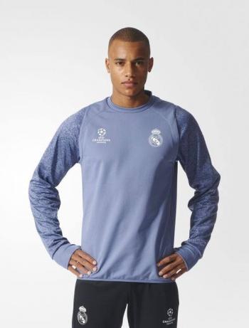 cb0615e39 Calcio Maglie da calcio UEFA Real Madrid Adidas Felpa Allenamento Training  Sweatshirt Azzurro 2016 17