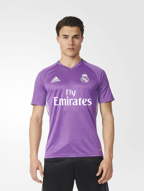 fly emirates real madrid adidas training trikot lila kurze. Black Bedroom Furniture Sets. Home Design Ideas