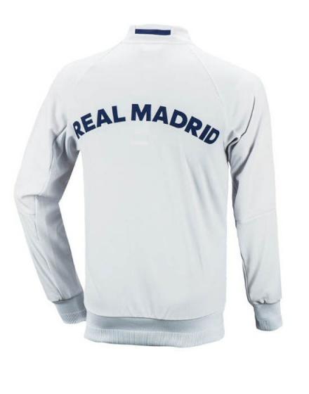 real madrid adidas training jacket 2016 17 white anthem ebay. Black Bedroom Furniture Sets. Home Design Ideas