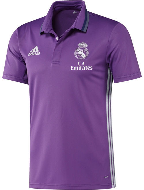 fly emirates real madrid adidas polo trikot shirt lila. Black Bedroom Furniture Sets. Home Design Ideas