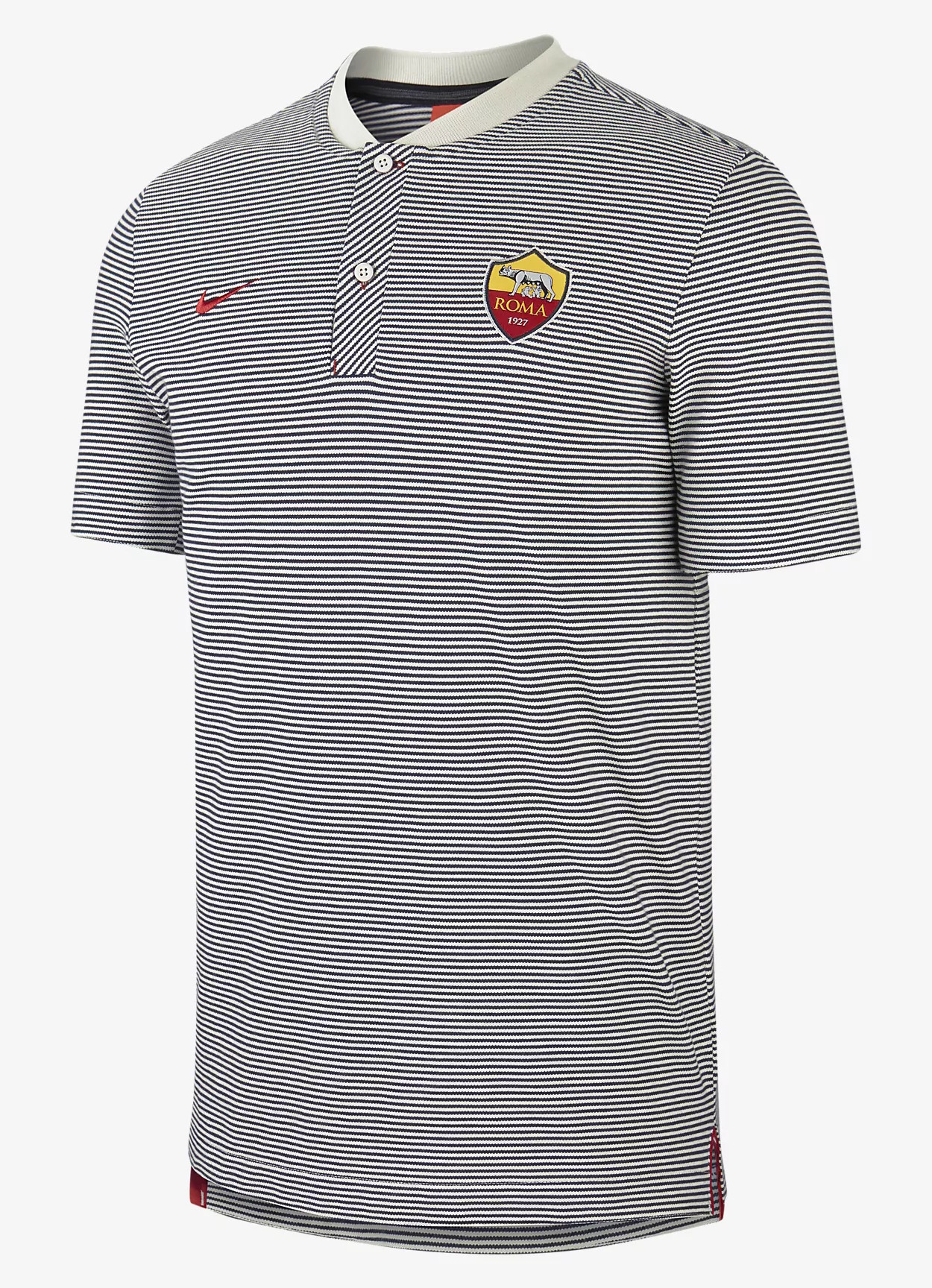 As-Roma-Nike-Polo-Shirt-Grey-Modern-Authentic-