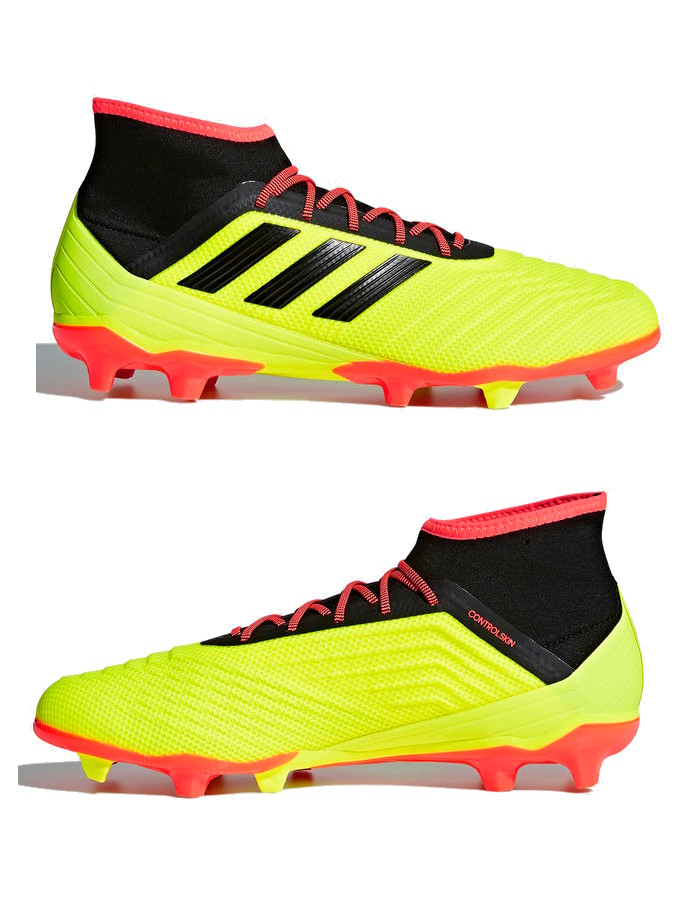 330ee54e9635c Football boots shoes Adidas Cleats Predator 18.2 FG Yellow with sock ...