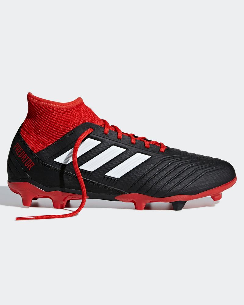 more photos a44a1 1cec2 Football shoes Adidas Scarpe Calcio Predator 18.3 FG Con calzino Nero Rosso