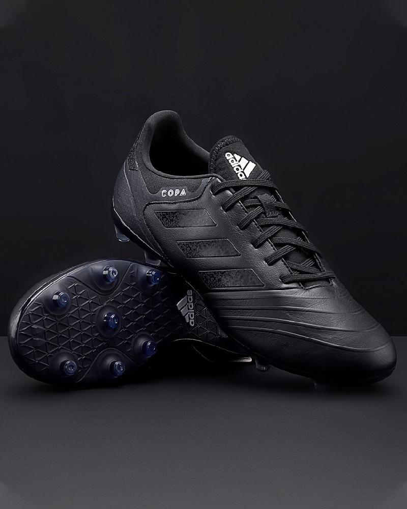 Football schuhe Adidas FußballSchuhe Copa 18.2 FG Total schwarz echtes Leder