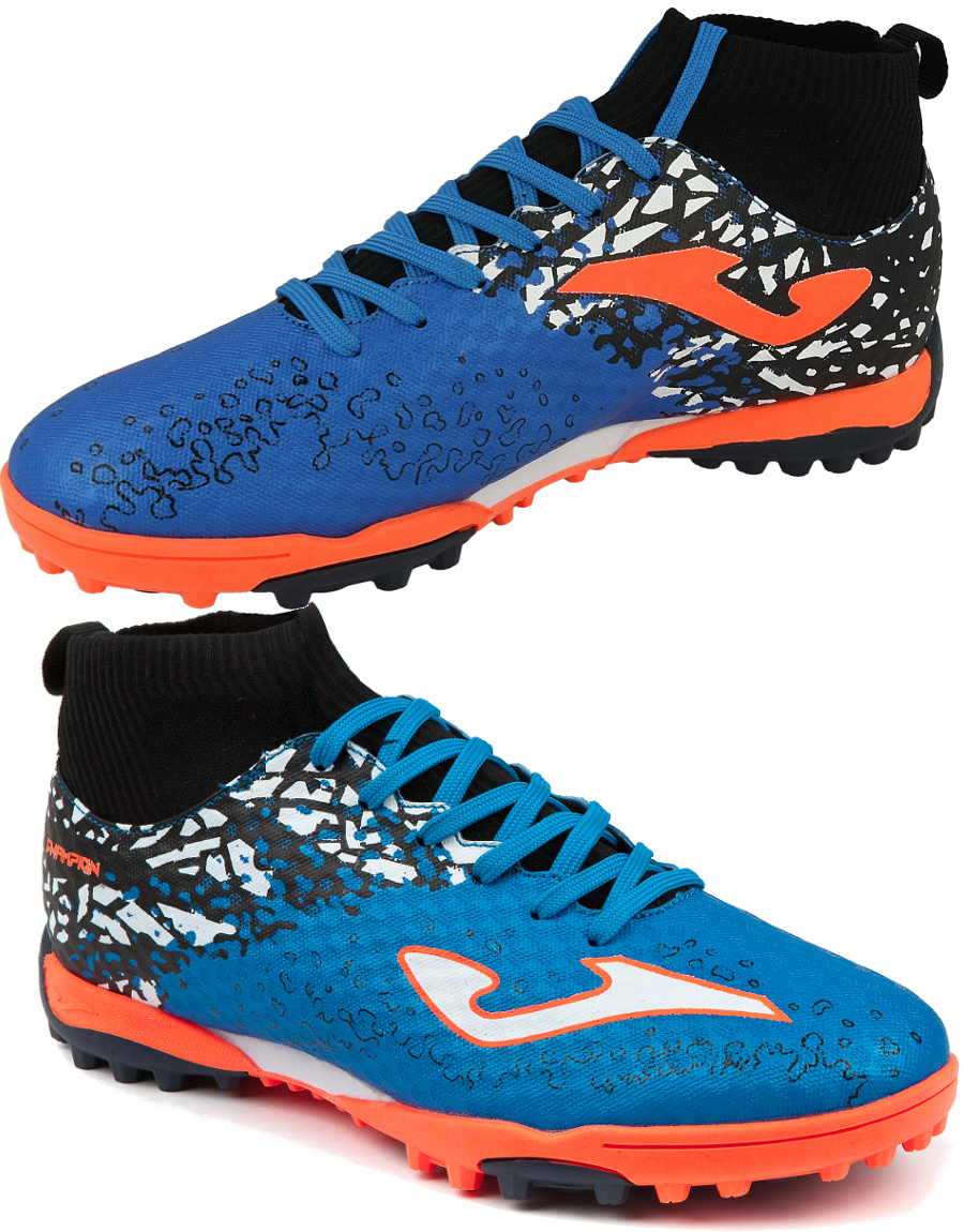 Football shoes Joma Scarpe da calcio Champion Blu Calcetto Turf 801 con  calzin e4fe81b45143f