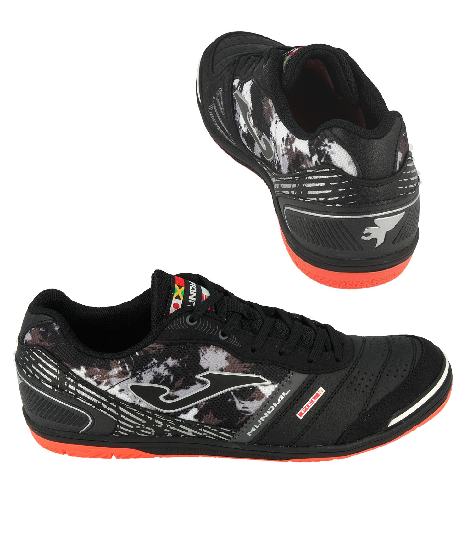 Football shoes Joma Scarpe Calcio Mundial Nero Indoor IC Sala Futsal parquet