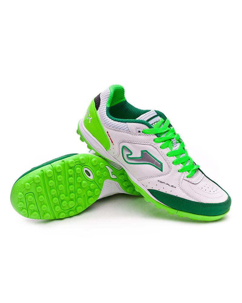 7450a3e6aa7 Football boots shoes Joma Cleats Top Flex 815 White green Turf ...