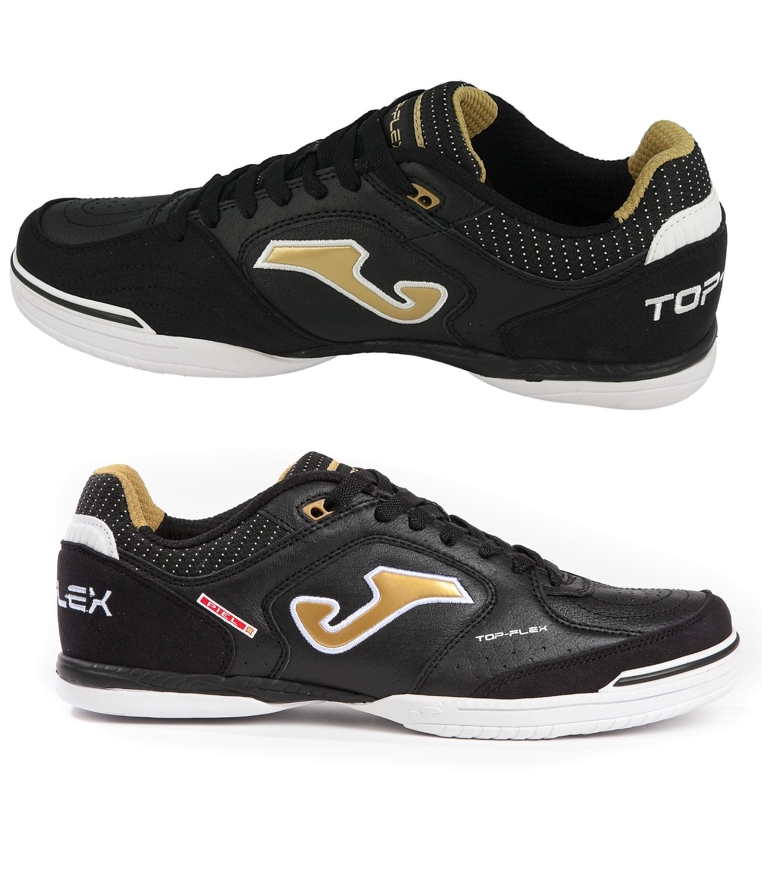 34355a6a6 Football shoes Joma Football shoes Top Flex 801 Noir gold Indoor