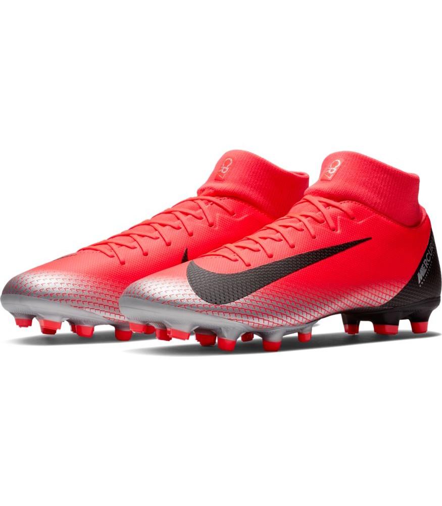 Football  zapatos botas de futbol NIKE súperfly 6 Academy cr7 mg rojo con calcetín  Sin impuestos