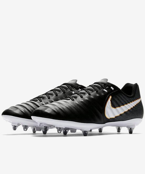 TG. 42 EU Nike Tiempo Ligera IV SG Scarpe da Calcio Uomo Nero E0u