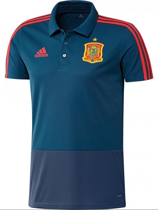 Spain spanien adidas polo trikot shirt blau world cup 2018 for Spain polo shirt 2014